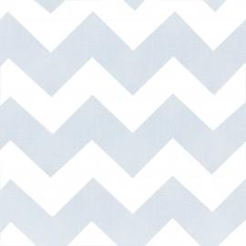 Tissu coton popeline Color Chevrons - Bleu Ciel x 10cm