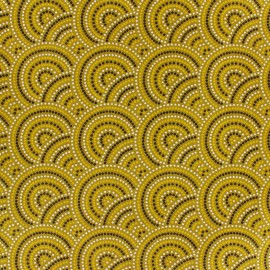 Cotton fabric Sydney - gold x 10cm