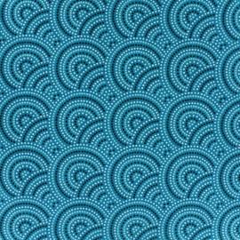 Tissu coton Sydney - canard x 10cm