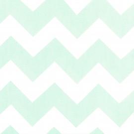 Tissu coton popeline Color Chevrons - Vert d'eau x 10cm