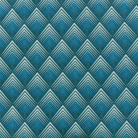 Cotton fabric Patou - teal x 10cm