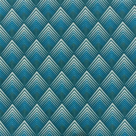 Cotton fabric Patou - teal x 10cm
