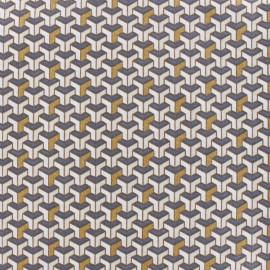 Tissu coton Facette - cuivre x 10cm