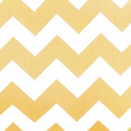 Tissu coton popeline Color Chevrons - Jaune x 10cm