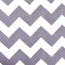 Cotton poplin fabric Color Chevrons - Parma x 10cm