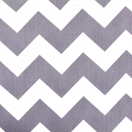 Tissu coton popeline Color Chevrons - Parme x 10cm