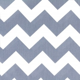 Cotton poplin fabric Color Chevrons -Blue x 10cm