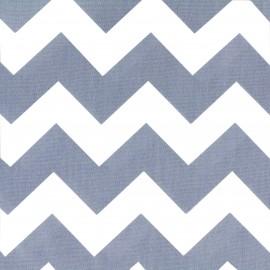 Tissu Oeko-Tex coton popeline Color Chevrons - Bleu  x 10cm