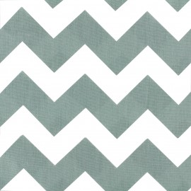 Cotton poplin fabric Color Chevrons - Sauge Green x 10cm