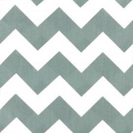 Tissu coton popeline Color Chevrons - Vert sauge x 10cm