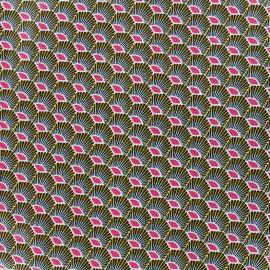 Tissu enduit coton Plume - fuchsia x 10cm