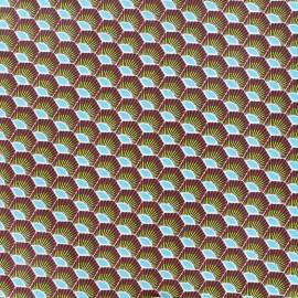 Tissu enduit coton Plume - rouge x 10cm