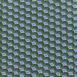 Tissu enduit coton Plume - émeraude x 10cm
