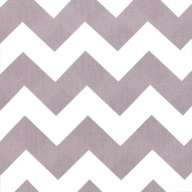 Cotton poplin fabric Color Chevrons - Old Pink x 10cm