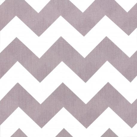 Cotton poplin fabric Color Chevrons - Old Pink x 10cm