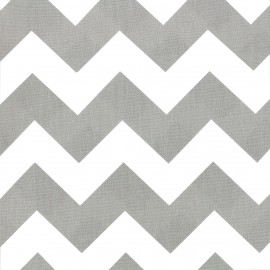 Tissu coton popeline Color Chevrons - Gris x 10cm