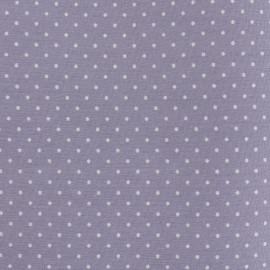 Tissu coton popeline Color Pois - Parme x 10cm