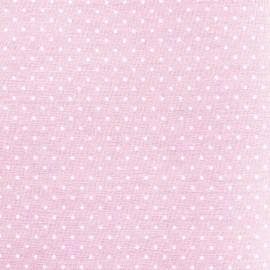 Tissu coton popeline Color Pois - Rose x 10cm