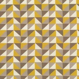 ♥ Coupon tissu 180 cm X 140 cm ♥ Tissu Berlingot triangle - gold