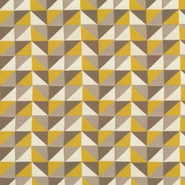 Berlingot triangle fabric - gold x 10cm