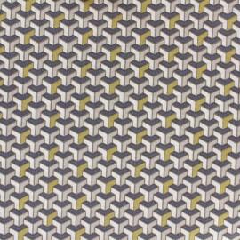 Tissu coton Facette - or x 10cm