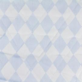 Tissu matelassé Color Arlequins - Bleu Ciel  x 10cm