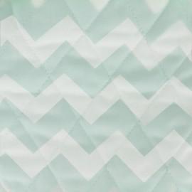 Tissu matelassé Color Chevrons - Vert d'eau  x 10cm