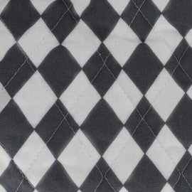Tissu matelassé Color Arlequins - Anthracite  x 10cm