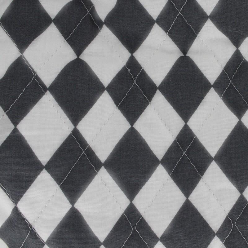 Tissu matelass color arlequin anthracite - Tissus bohemes colores ...