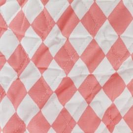 Tissu matelassé Color Arlequins - Corail  x 10cm