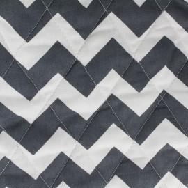 Tissu matelassé Color Chevrons - Anthracite  x 10cm