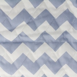 Tissu matelassé Color Chevrons - Bleu  x 10cm