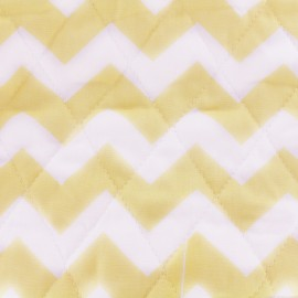 Quilted Cotton Fabric Color Chevrons - Yellow x 10cm
