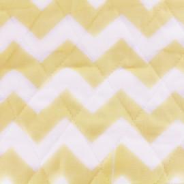 Tissu matelassé Color Chevrons - Jaune  x 10cm