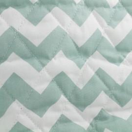 Tissu matelassé Color Chevrons - Vert Sauge  x 10cm