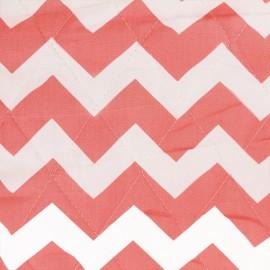 Tissu matelassé Color Chevrons - Corail  x 10cm