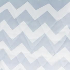 Tissu matelassé Color Chevrons - Bleu Ciel  x 10cm