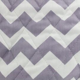 Tissu matelassé Color Chevrons - Parme  x 10cm