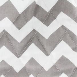Tissu matelassé Color Chevrons - Gris  x 10cm
