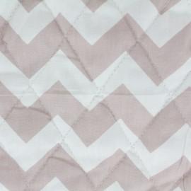 Tissu matelassé Color Chevrons - Vieux rose  x 10cm