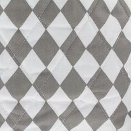Tissu matelassé Color Arlequins - Gris  x 10cm