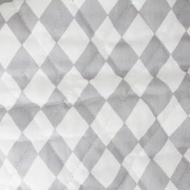 Tissu matelassé Color Arlequins - Gris clair  x 10cm