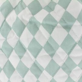 Tissu matelassé Color Arlequins - Vert sauge  x 10cm