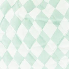 Tissu matelassé Color Arlequins - Vert d'eau  x 10cm