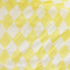 Tissu matelassé Color Arlequins - Jaune  x 10cm
