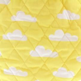 Tissu matelassé Color Nuages - Jaune  x 10cm
