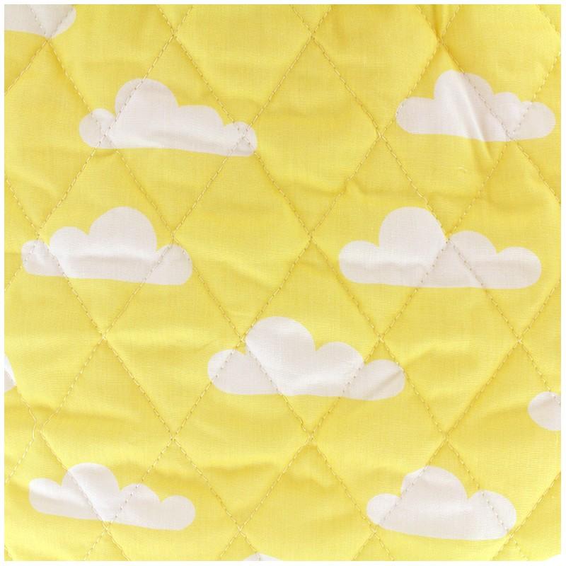 Tissu matelass color chevrons jaune - Tissus bohemes colores ...