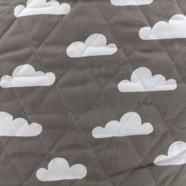 Tissu matelassé Color Nuages - Gris  x 10cm