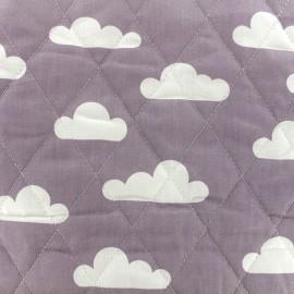 Tissu matelassé Color Nuages - Parme  x 10cm
