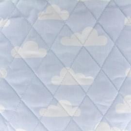 Tissu matelassé Color Nuages - Bleu ciel  x 10cm
